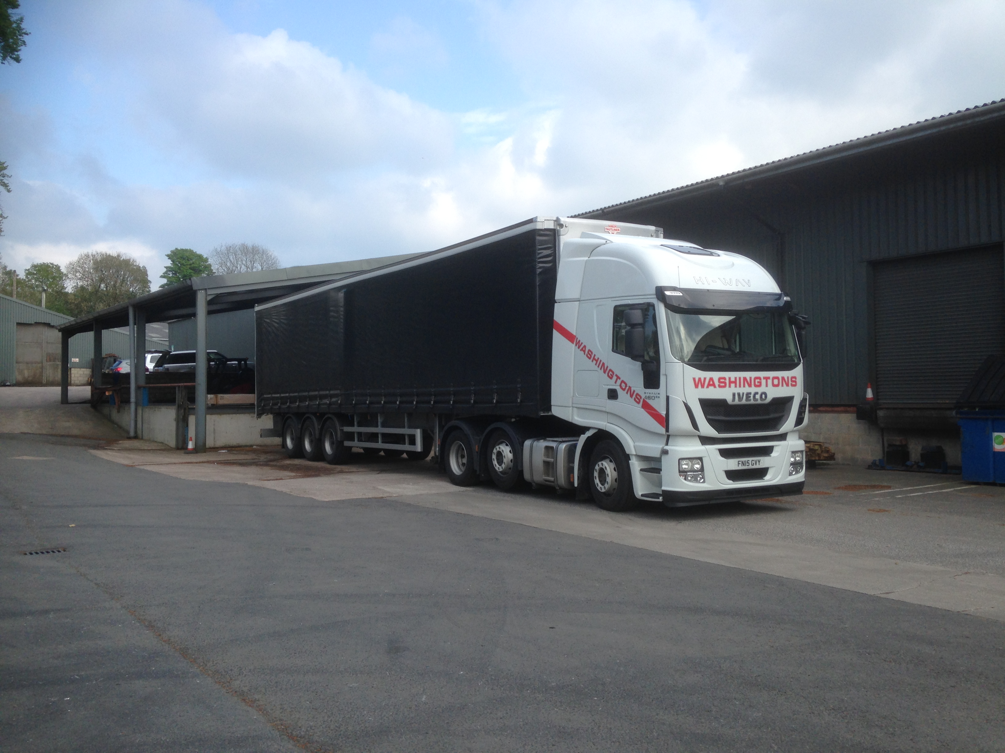 A shot of one of our modern fleet parked in our depot.