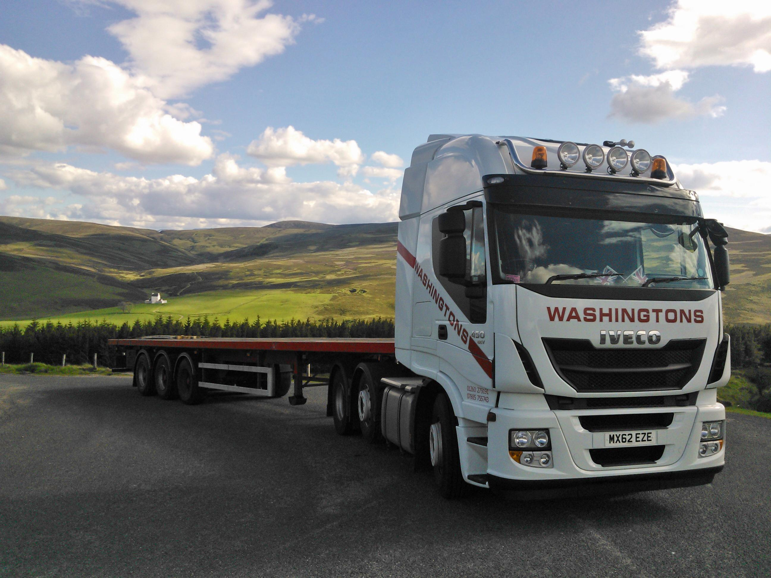 One of our trucks returning from a delivery in Aberdeen.