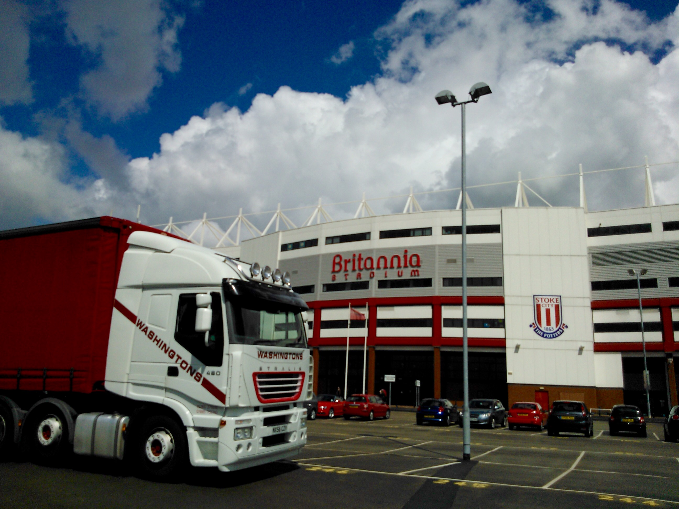 Outside Stoke City FC after an LED System delivery.
